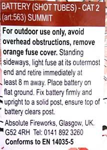 EN Fireworks Label
