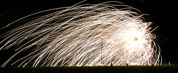 Fireworks in action