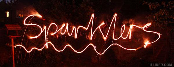 Sparkler writing