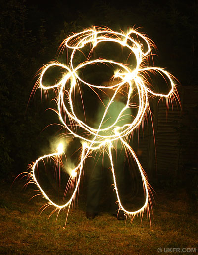 Drawing with sparklers