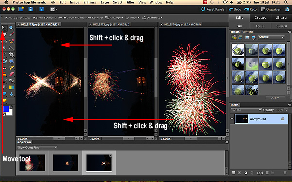 Fireworks in Adobe Elements