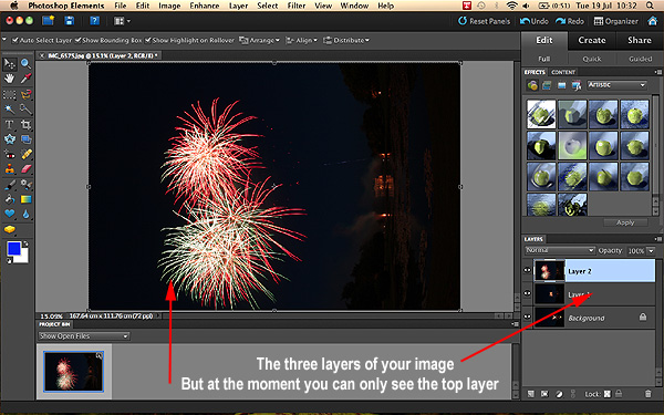 Fireworks Photographs in Photoshop