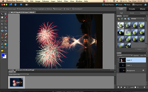 Photographing Fireworks