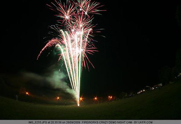 Remotely taken fireworks photo