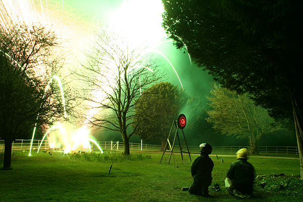 A fireworks photograph taken remotely from a completely unattended camera.