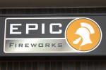 Epic Fireworks Shop Sign